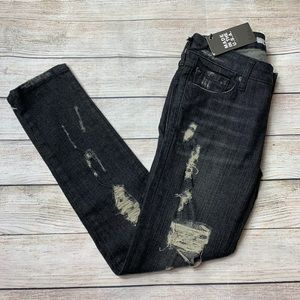 BALDWIN   rivington peg leg crop distressed jeans